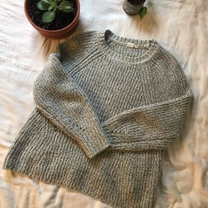 Gap Cable Knit Gray Sweater
